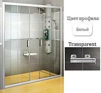 Дверь душевая Ravak BLDP4-120 Transparent+White, фото 1