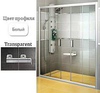 Душевые двери Ravak BLDP4-190 Transparent+White, фото 1