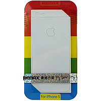 Защитная пленка Remax для Apple iPhone 5/5S/5C (front + back) Pure Sticker White