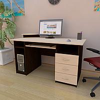 Стол компьютерный с полкой под клавиатуру, системный блок и ящиками СК-5