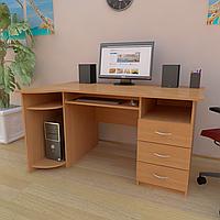 Стол компьютерный с полкой под клавиатуру, системный блок и ящиками СК-6