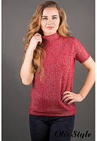 Женская красная кофта Белис Olis-Style 46-52 размеры