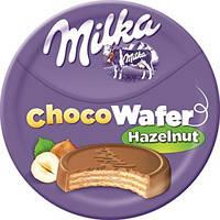 Вафли Milka Choco Waffer Hazelnuss mini (с шоколадно-ореховой начинкой), 30 гр