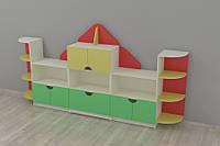 Стеллаж для игрушек Дом 3170*400*1600h