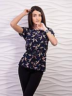 Блуза женская креп-шифон с рисунком p.42-48 VM1888-2