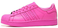 Женские кроссовки Adidas Superstar Supercolor PW Semi Solar Pin Адидас Суперстар Суперколор розовые