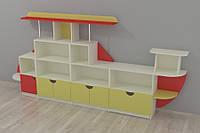 Стенка для игрушек и учебных пособий 3700*400*1700h