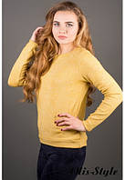 Трикотажная женская желтая кофта Альфа Olis-Style 46-52 размеры