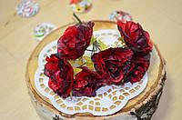 Цветы Пионы (цена за букет из 6 шт). Цвет - красный, бордовый