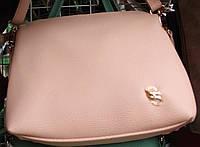Клатч женский однотонный нежно розовый 17-7111-1