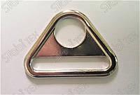 Треугольник литой с отверстием для карабина и ленты 4см