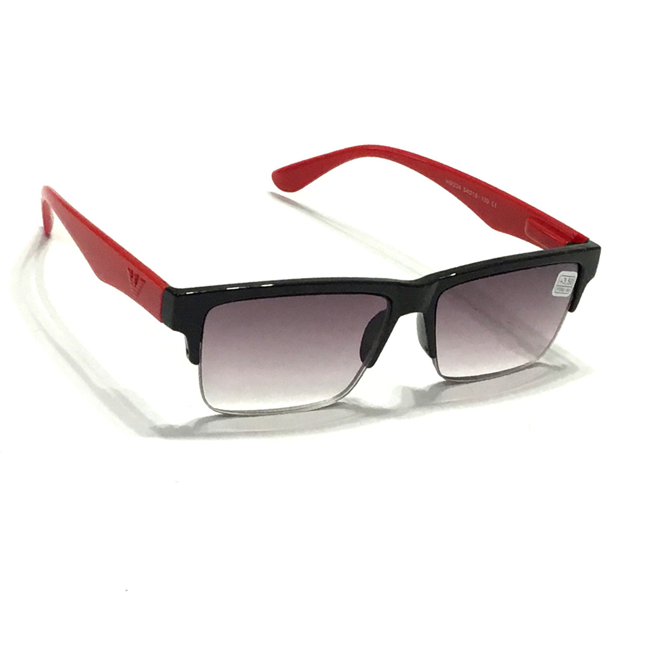 Мужские полуоправные очки с тонированной линзой