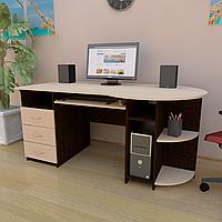 Стол компьютерный с полкой под клавиатуру, системный блок и ящиками СК-7