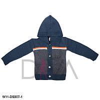 Кофта детская вязаная с капюшоном Арт. W11-DS007-1 (в упаковке 3 шт.)