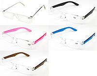 Очки для зрения в простой пластиковой оправе с диоптриями