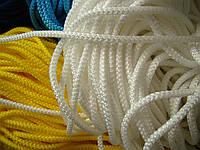 Шнур текстильный, диаметр 5 мм, с наполнителем, белый.