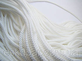 Шнур полипропиленовый белый 5 мм с наполнителем.