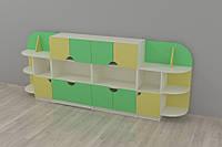 """Шкафы и полки для игрушек """"Чебурашка"""" 3170*400*1250h"""