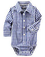 Рубашка бодик для мальчика с длинным рукавом в клеточку +новая коллекция