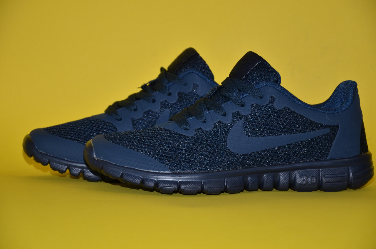29a8826f3eb5 Кроссовки подростковые Nike Free Run 3.0 синие  продажа, цена в ...