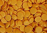Глазурь 301 кондитерская оранжевая чипсы (монеты)