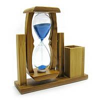 Часы песочные с подставкой для ручек, высота 16,5 см