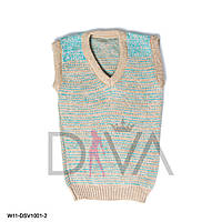 Жилетка детская теплая Арт. W11-DSV1001-2 купить детские свитера и жилетки в интернете (3 шт. в упаковке)
