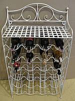 Подставка-стеллаж  для вина кованая  103-Э
