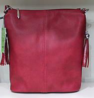 Сумка торба женская красная однотонная Производитель Украина 17-35270-1