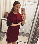 Женский стильный повседневный костюм: жакет и платье с кружевом (5 цветов), фото 8