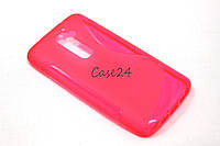 Чехол накладка для LG G2 розовый, фото 1