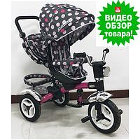Велосипед детский трехколесный Turbo Trike М-3199-6D надувные колеса поворотное сиденье Турбо трайк