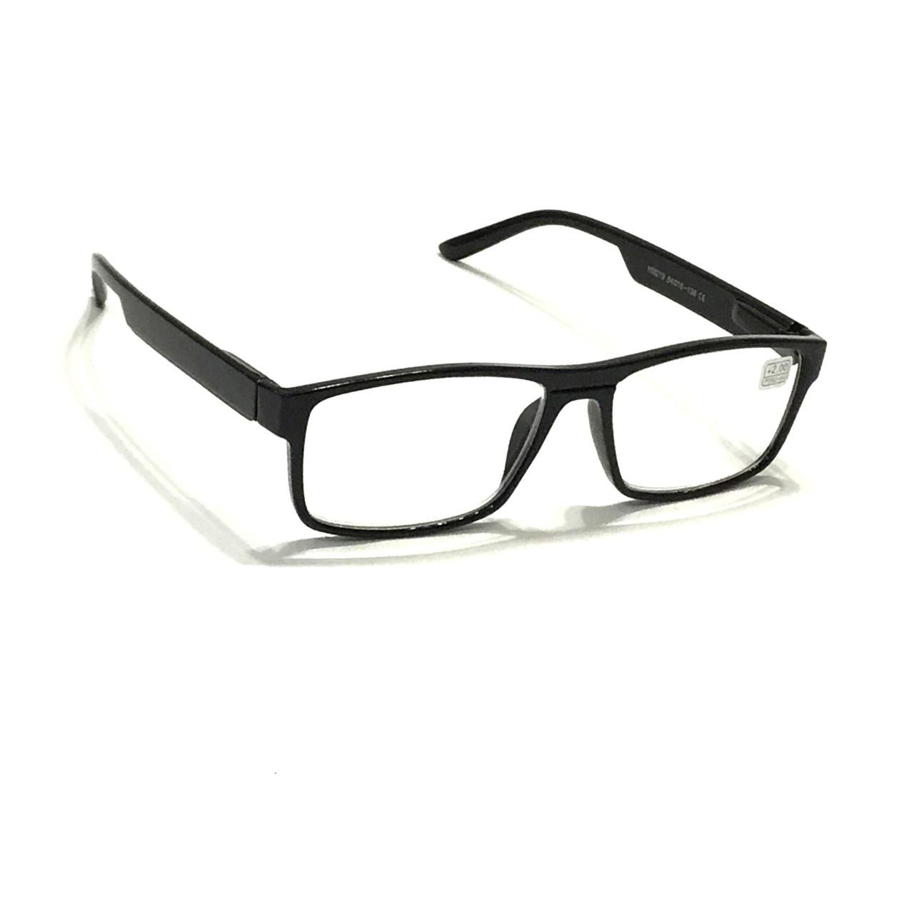 Очки в пластиковой оправе с белой линзой
