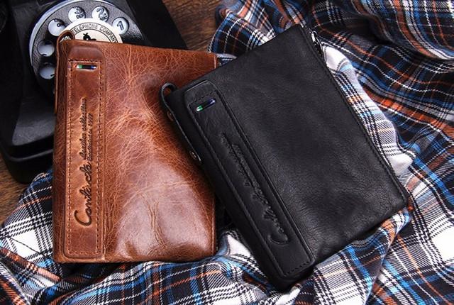 Клатчі і гаманці з натуральної шкіри