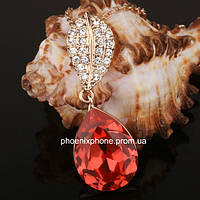 Прелестный кулон с кристаллами Swarovski + цепочка, покрытые золотом  (302172)