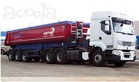Установка гидравлики на тягач Renault под газовоз