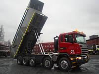 Установка гидравлики на тягач Scania под самосвал