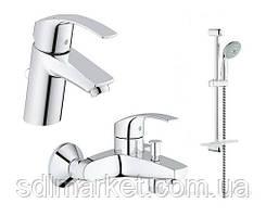 Набір змішувачів 3 в 1 GROHE EUROSMART для ванної кімнати