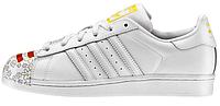 Женские кроссовки Adidas Superstar Pharrell Supershell White Адидас Суперстар белые