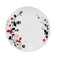 Тарелка 22 см Красное и черное SNT 30071-1066