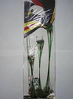 Поводки KAIDA (15см, 23 см, 30см)  60 шт зеленые
