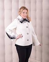 Кортокое полу-пальто белое. 50,52,54,56,58,60 размер