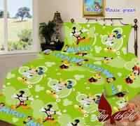 Комплект постельного белья полуторный ТМ Таg Mickey Mouse green