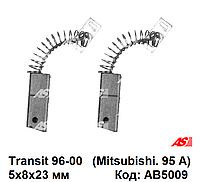 Угольный щетки генератора Ford Transit 2.5 D - 2.5 TD (96-00) Форд Транзит. AB5009 - AS Poland.
