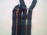 молния ykk голубая 14 см, фото 3
