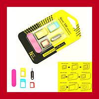 Адаптер для SIM-карты IParts 4 1 Nano Sim & SIM/iphone 6 5S 5C 5 4S 4 Universal Адаптеры для SIM-карты!Акция