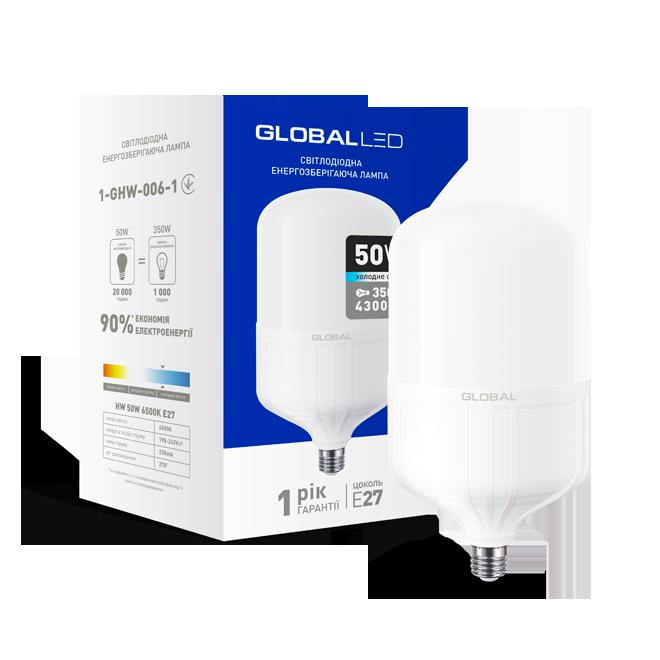 Светодиодная лампа Global 50Вт Е27