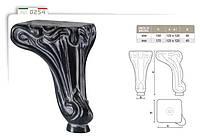 Ножка меблева фігурна букова DV Art. 0254