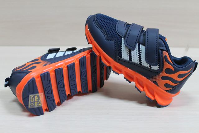 детские кроссовки оранжевая подошва style-baby.com