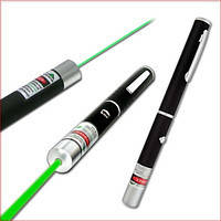 Указка лазерная Green Laser Pointer (с 5 насадками)